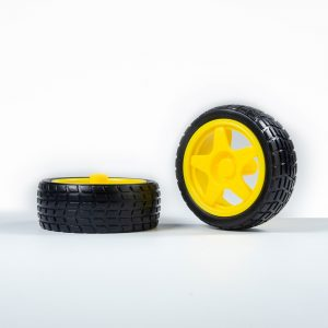 65mm Rubber Wheels Compatible with TT Motor