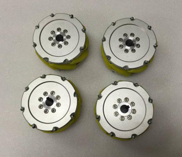CasterBot 5 Inch Heavy Duty Mecanum Wheels 127mm Industrial Wheel Load capacity: 350kg/Set