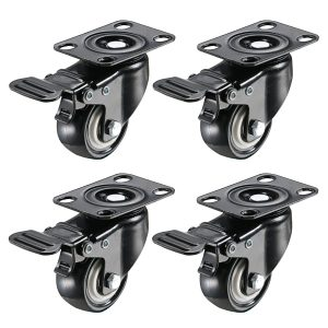2inch Swivel Caster Wheels with Locking Heavy Duty Casters Wheels 150 Lbs Per Castor