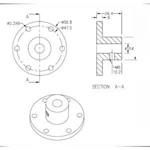 10mm coupling for mecanum wheels