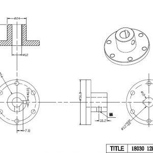 CasterBot 12mm Keyway Coupling CB18030 Stainless Steel Key Hub for Mecanum Wheels