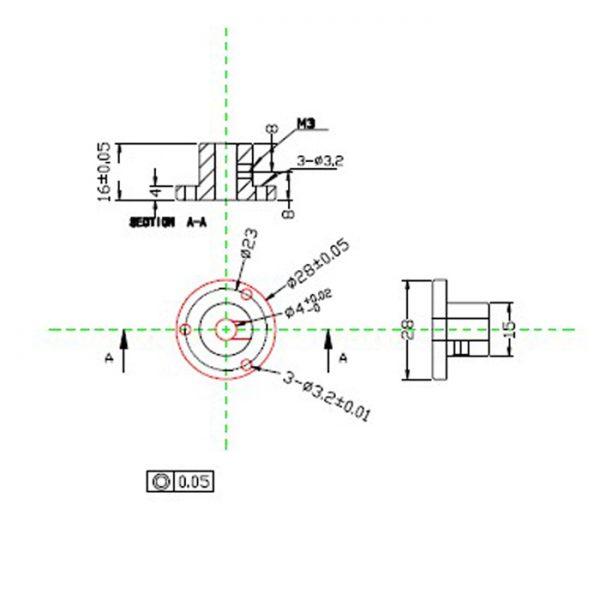4 mm Coupling Aluminum mounting Hub for 60mm Mecanum Wheels