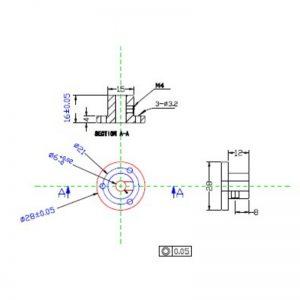 6mm Motor Shaft Coupling Hub CB18020 for 14145 60mm omni wheel