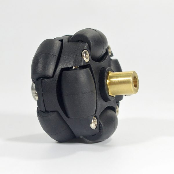 CasterBot 3 mm Brass Hex Coupling for 38 mm Plastic Omni Wheels