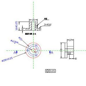 CasterBot 4 mm Aluminum Coupling Hub CB18018 for 60 mm Omni Wheel CB14145