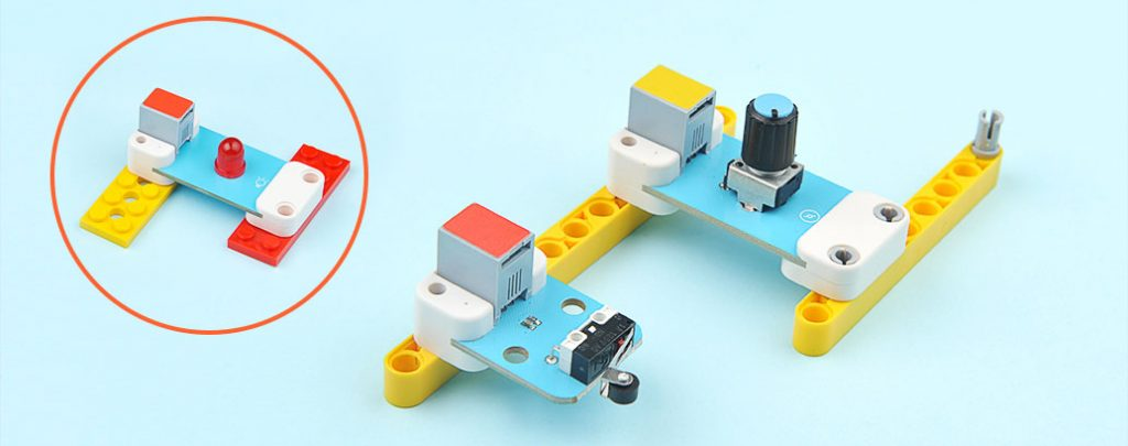 Compatible to Lego bricks Compatible to the salient points and plugs of Lego bricks and make it possible to create new projects with your ideas.