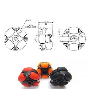 1.5 inch 38mm Omni Wheels 14199 Plastic Omni-directional Wheel for Robot Car Wheel
